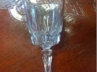 Beautiful Crystal Stemware. Set of six