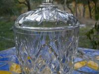 This little crystal sugar or jelly bowl is in pristine