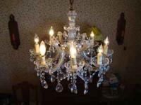 CRYSTAL CHANDELIER BOUGHT IN ITALY ! THE COST WAS $995.