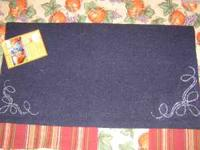 Brand new with tag navy blue saddle blanket with clear
