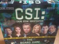 CSI GAME ALL PIECES ARE THERE. VERY NICE LOOKS BRAND