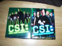 CSI seasons 1 & 2  $10.00 each or both for $15.00 call