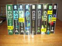 Series 1 through 9 of CSI. New. Still on boxes. Outer