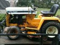 For sale is a cub cadet for restoring or use unsure of