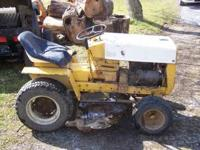 Cub Cadet 122 tractor. Engine ran a couple of years
