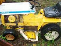 very nice cub cadet 124 with blade and deck runs and
