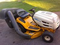 CUB CADET 1600 RIDING LAWN MOWER COMES WITH THE GRASS
