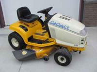 """CUB CADET 2166 TRACTOR WITH 42"""" DECK - ONLY 236 HOURS ."""