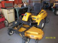 Cub Cadet 50in Zero Turn Mower Bought new 2009 Used