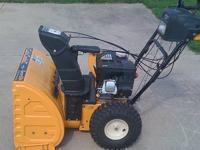 Cub Cadet 524SWE snow blower, used only a couple of