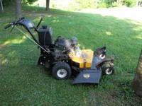 Almost New this mower may have 8 hrs on it. Bought to