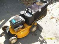 This Cub Cadet push mower is in excellent condition, it