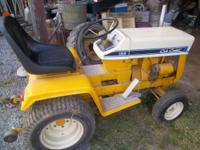 cub cadet pulling tractor model 126 12 h.p $1000 was