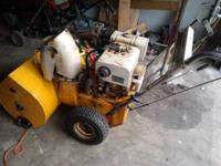 we have a self prepelled cub cadet snow blower it has a