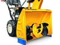 There here new Cub cadet snow blowers !!!!! come down