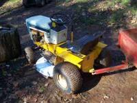 HI, WE HAVE FORSALE AN OLDER MODEL CUB CADET 182. HAS