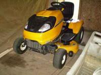 Cub Cadet Zero Turn tractor with less than 25 hours.