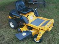 I have a Cub Cadet Zero Turn Riding Mower For Sale.