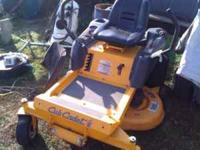 "42"" DECK CUB CADET ZERO TURN MOWER FOR SALE. JUST"