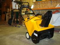 Cub Cadet model 221L Snowblower 21 inch clearing path
