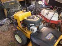 Cubcadet zero turn walk behind mower. Barley used. Call