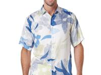 Cubavera's floral-print big and tall shirt offers