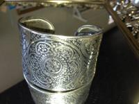Silver Cuff Bracelet For $32.00 Item # 7222-15.