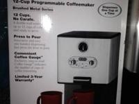 Brand new 12 cup programmable coffee maker by