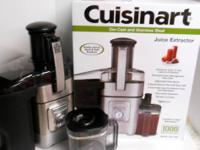 This is a like-new Cuisinart Stainless Steel and Die