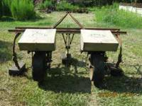 TWO ROW CULTIVATOR FRAME WITH HIGH SPEED COLE PLANTERS