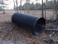 BLACK CULVERT PIPE ,GOOD FOR DRIVE WAY ACCESS OVER