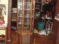 i have a curio cabtnet for sale for 150 obo please call