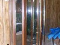 "Nice curio cabinet. 30"" X 76"" 4 glass shelves with"