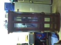 Wood & Glass curio cabinet - $450.00 you haul. Glass