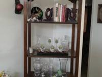 Open Air curio cabinet with four shelves and a drawer.