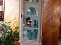 Curio Cabinet All wood (Pine) Cottage Style with Arched