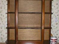 Beautiful solid wood curio display cabinet. Great for