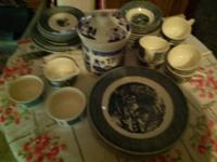 Curriet and ives dishes. Lots of pieces. $80 for all