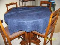 Two panels of dark blue felt/suede curtains. 40X83 like