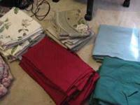I have a large assortment of curtains and valances that