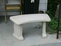 free standing curved Concrete Garden Bench the bench is