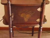 This is a beautiful antique humidor made by cushman. On