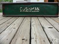 Vintage steel tailgate from old Cushman Truckster