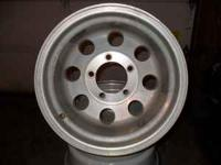 Custom aluminum wheels. Fits 1/2 ton fords. Wheels are