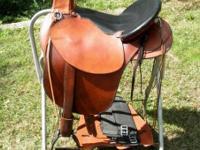 "Customized 16"" Old Timer Trail Saddle on Steele Tree."