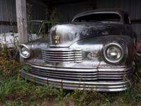 Up for sale, 1946 Nash 4 door chopped. Rear suicide