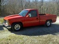 1988 chevrolet truck. It is red/orange. New paint!! It