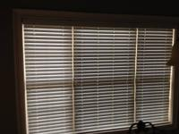 "Custom 2"" Faux Wood Blinds. It has a single spline with"