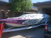 24 foot jet boat with 454 bb, custom paint, and more,