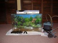 Custom 29 gallon TruVu acrylic aquarium with Rena XP-1
